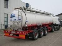 Gummierte Tanksattelauflieger